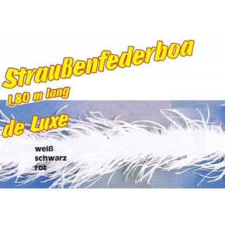 Straussenfederboa de luxe, 1.80m lang